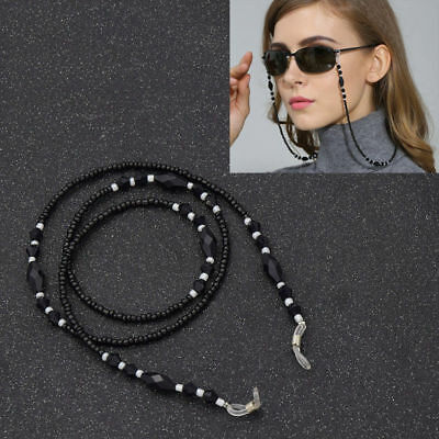 Beads Beaded Eyeglass Cord Reading Glasses Eyewear Spectacles Chain Holder Cord