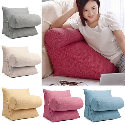 Large Adjustable Back Neck Lumbar Wedge Cushion Pillow Sofa Bed Office Support