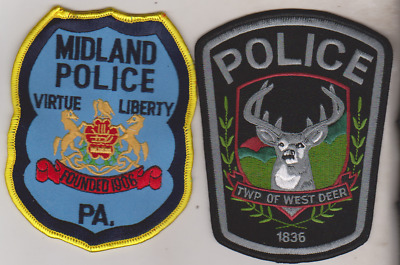West Deer Township & Midland PA Police patches
