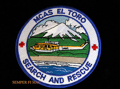# Mcas El Toro Search & Rescue Patch Us Marines Huey Helicopter Pin Up Maw Soms