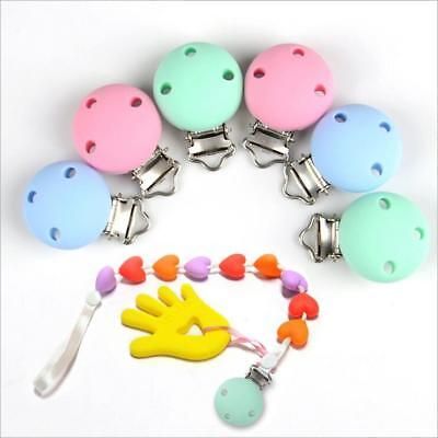 DIY 1X Safety Silicone Baby Pacifier Clip Baby Teething Chew Toys Pacifier Chain