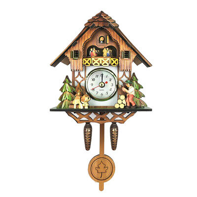 Antique Style Carved Cuckoo Wall Clock Pendulum Clock Craft Art Clock