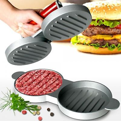 Double Hamburger Beef Burger Quarter Pounder Maker Mould Press Patty Barbecue