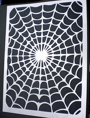 high detail airbrush stencil cobweb FREE UK POSTAGE