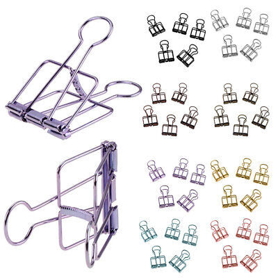 5PCS Hollow Metal Binder Clips File Paper Photo Organizer Hanging Stationery CHY