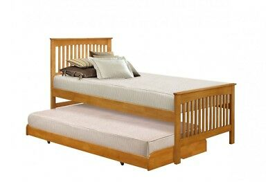 Birlea Toronto 3ft Single Wooden Guest Bed With Trundle - Oak or White
