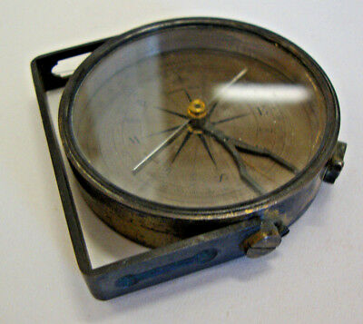 Antique small size sighting compass made by BRAHAM BATH