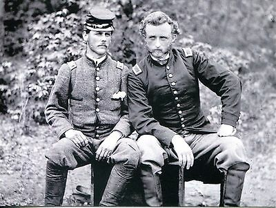 Picture Postcard Of Civil War Picture Of General Custer And Rebel Classmate