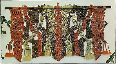 Vintage Retro 70's Wall Hanging Art Pattern Macrame A Designers Collection Book