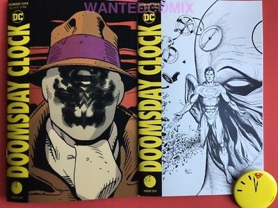 Doomsday Clock #1 11:57 Variant & Lenticular 3D Comic Lot Set & Bonus Button