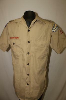 BSA Boy Scouts of America Mens Small Uniform Scouting shirt WISCONSIN MICHIGAN