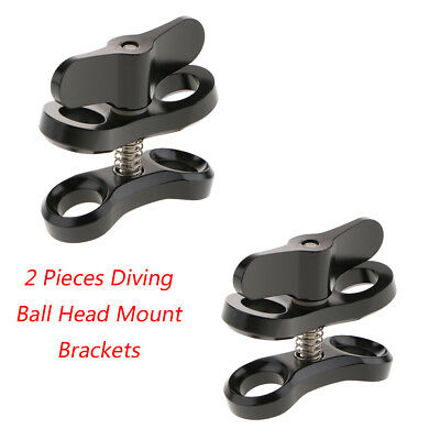 2 Pieces Underwater Photography Ball Head Clamp Mount Arm for GoPro 6/5/4/3