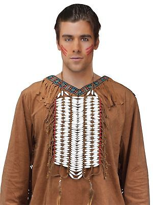 Indian Warrior Chest Breast Plate Beaded Native American Adult Costume Accessory