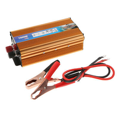 1000W Power Inverter Car Inverter Converter Charger Cable DC 12V To AC 220V