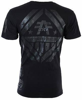 AMERICAN FIGHTER Men T-Shirt AVERETT Athletic BLACK REFLECTIVE Biker Gym UFC $40