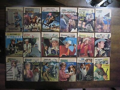 Vintage GOLDEN AGE Dell WESTERN Coverless Comic Book Lot ROY ROGERS+ Readers
