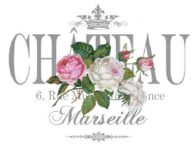 Vintage Image French Paris Chateau Shabby Roses Transfers Waterslide Decal FL530