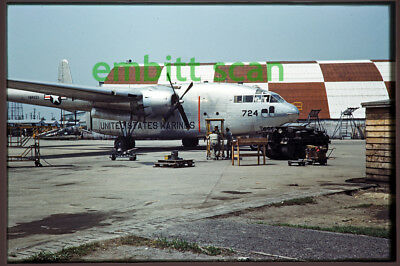 Original Slide, Marines VMR-253 Fairchild R4Q-1 Flying Boxcar, 1950s Korean War