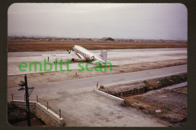 Original Slide, USAF Douglas C-47B Skytrain at Itazuke Air Base, 1951