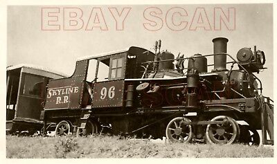 8F300D RP 1950s/60s SKYLINE RAILROAD HEISLER LOCOMOTIVE #96 JENKS OK