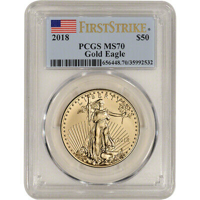 2018 American Gold Eagle 1 oz $50 - PCGS MS70 First Strike