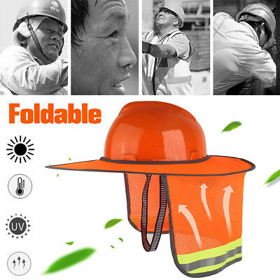 Construction Safety Hard Hat Neck Shield Helmet Sun Shade Reflective Stripe Kit