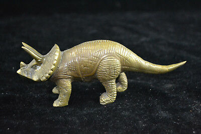 China old Collectible handwork copper carve dinosaur rare exquisite big Statue