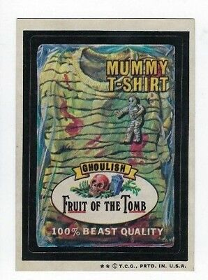 1974 Topps Wacky Packages 6th Series 6 FRUIT OF THE TOMB MUMMY T--SHIRT nm-