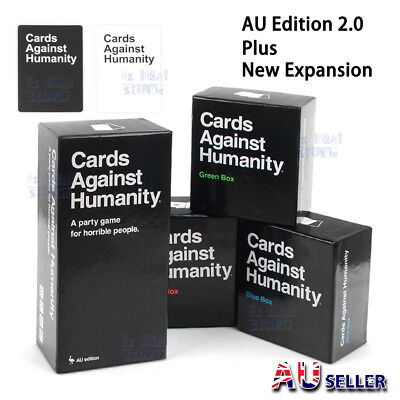 Cards Against Humanity Australian Edition 2.0 Card Game+Red Blue Green Expansion