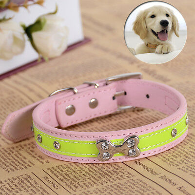 Studded Collar For Small Medium Dogs Rhinestones Puppy Pet Accessories Size S M