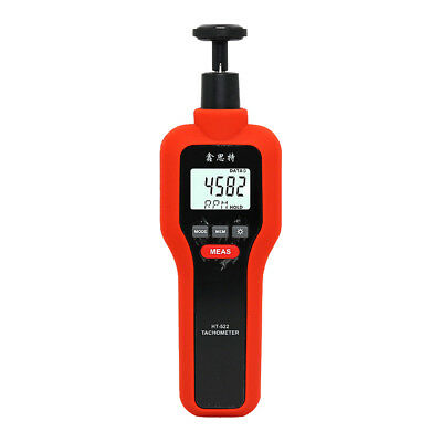 Contact and Non-Contact RPM Tach Digital Tachometer Speed Meter