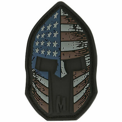Spartan USA American Flag Patch Morale Tactical Military Patch New PVC