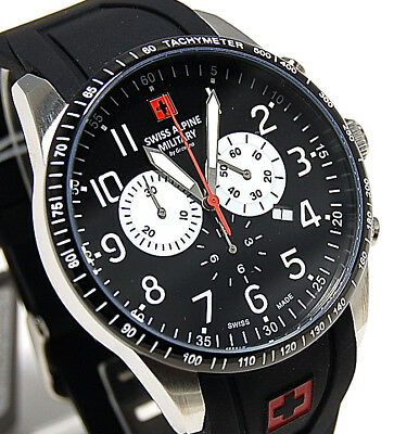 Swiss Alpine Military by Grovana Herren Chrono 7082.9837SAM SM154