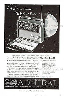 Admiral All-Word-Model 909 Transistor Portable Radio - Original Anzeige von 1959