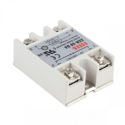 Solid State Relay Module SSR-50DA 50A, 3-32V DC to 24-380V AC, With safety Cover