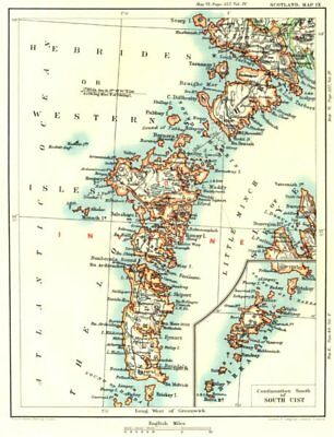 OUTER HEBRIDES / WESTERN ISLES. North & South Uist.Barra, Harris & Skye 1893 map