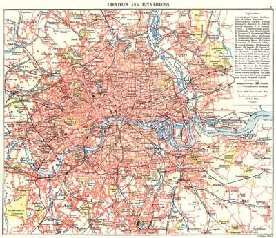 LONDON. Showing underground tube railways key buildings parks 1893 old map
