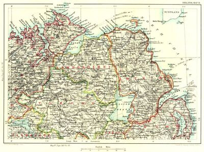 ULSTER. Londonderry Donegal Tyrone Fermanagh Armagh Down Antrim Omagh 1893 map