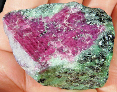 A 100% Natural Red RUBY Crystal In A Deep Green Zoisite Matrix! Tanzania 110gr