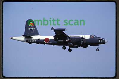 Original Slide, Japan JMSDF VP-3 Kawasaki P-2J Neptune, 1975