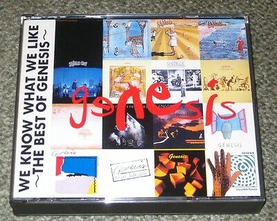 GENESIS Japan PROMO ONLY 2 x CD set PETER GABRIEL Phil Collins WE KNOW WHAT 1991