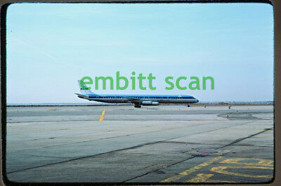 Original Slide, KLM Royal Dutch Airlines Douglas DC-8-63 (PH-DEH) at JFK, 1976