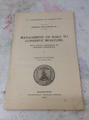 US DEPARTMENT OF AGRICULTURE FARMERS BULLETIN 1906 Management Soil Conserve Mois