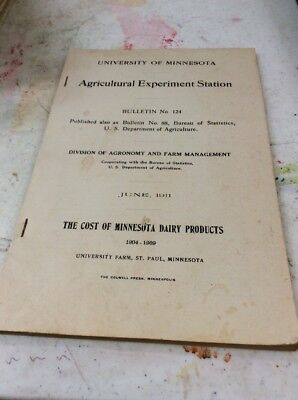 UNIVERSITY OF MINNESOTA AGRICULTURE BULLETIN June 1911 Experiment Station