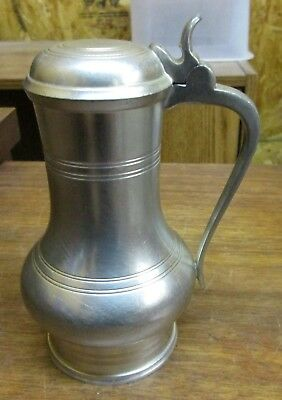 Vintage Royal Holland KMD Pewter Hinged Creamer