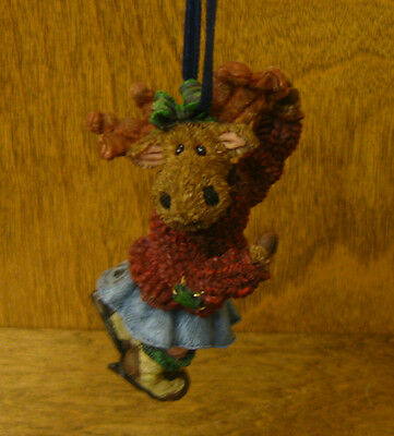 Boyds Resin Moose Troop Ornaments #25001 Mattie Frostbuns From Retail Store NIB