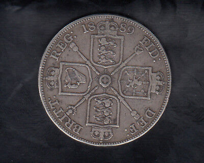 1889 Great Britain Silver Double Florin