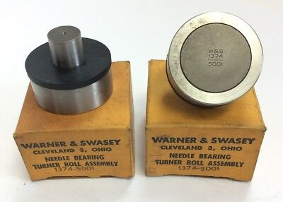 Lot of 2 Warner & Swasey 1374-5001 Cam Followers Needle Bearing Turner Roll Assy