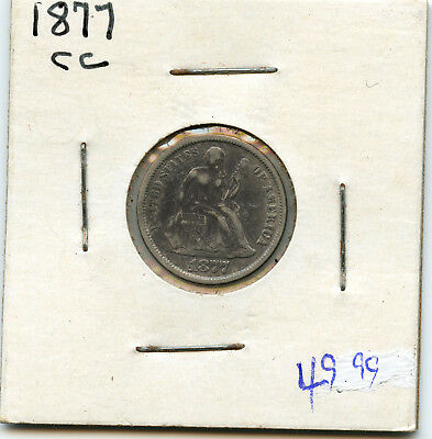 1877-CC 10c Silver Seated Liberty Dime