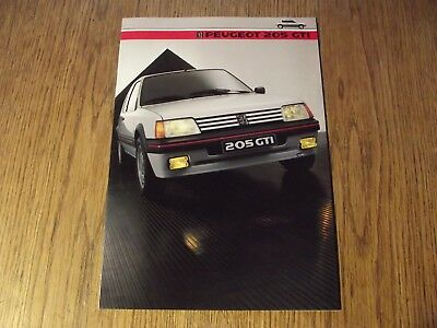 Catalogue Neuf Peugeot 205 Gti.